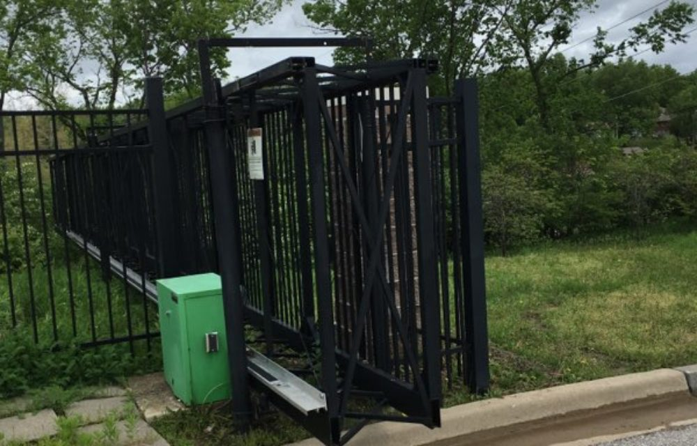America's Gate Company - steel box cantilever gate in black
