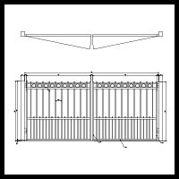 Flat Top Gate with Alternating Pickets and Rings
