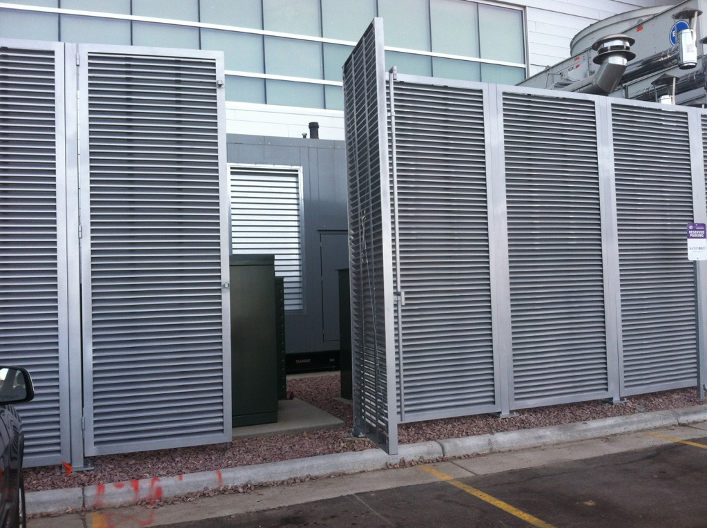 PalmSHIELD aluminum louvered commercial swing gate