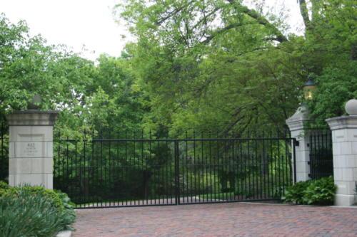 Estate Straight Double Drive Gate