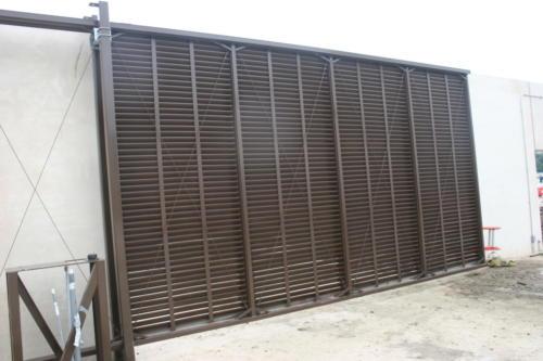 Brown aluminum industrial slide gate