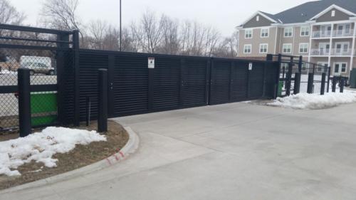 Industrial slide gate - Johnson Public Safety - Vehicle Restraint Gates