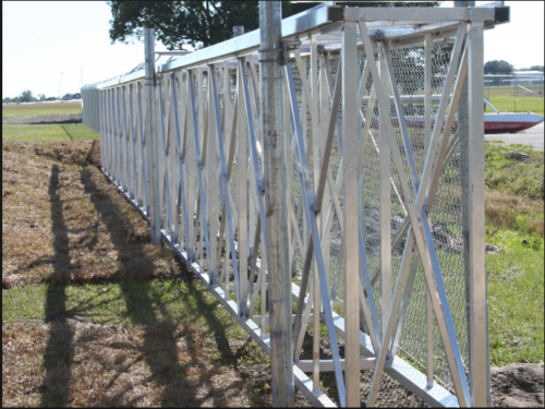 Box frame industrial slide gate