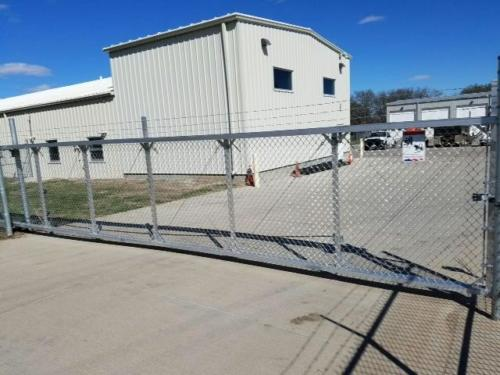 Aluminum Cantilever industrial slide gate in Hastings Nebraska