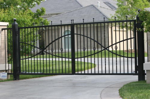 1307 Estate gate with Jesus fish