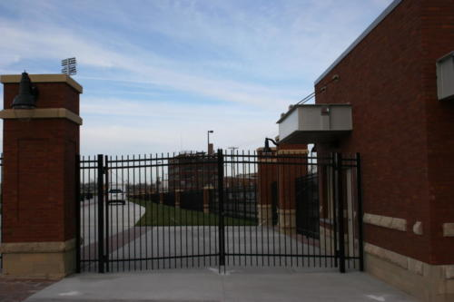 Creighton Soccer stadium commercial swing gates