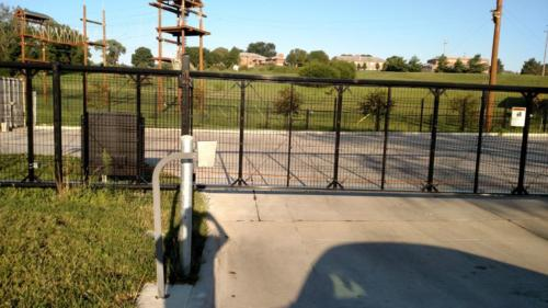 Chain-link-slide-gate-with-welded-wire-mesh