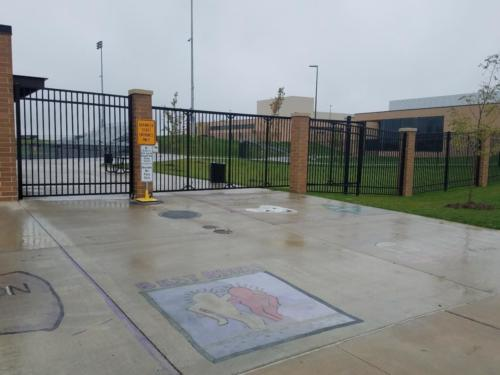 Custom Commercial Cantilever Gates Johnston School District